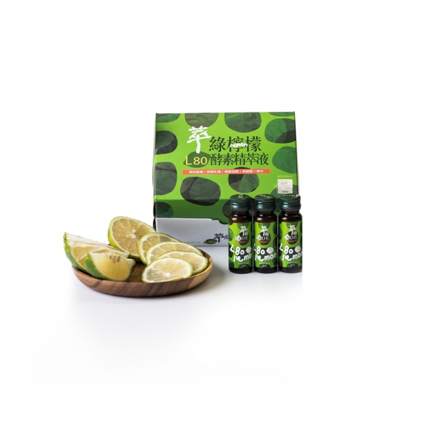 萃綠檸檬L80酵素精萃液</br>20mlx12支/盒 1